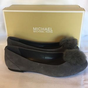 Michael Kors Remi Ballet in charcoal